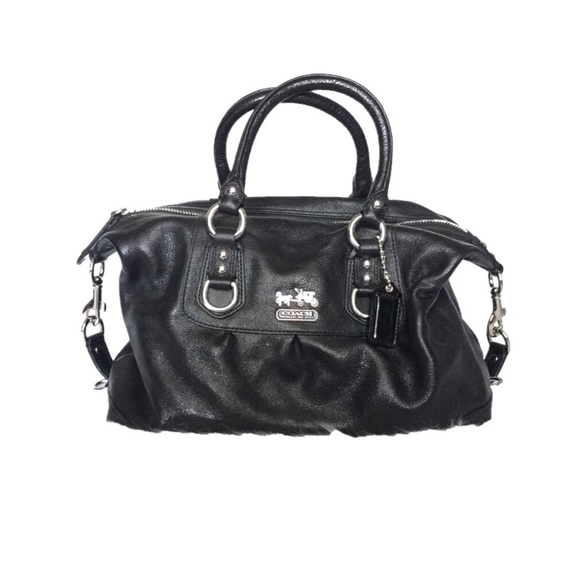 bc34ad5aa8bf Coach bags authentic black leather madison sabrina bag poshmark jpg 580x580 Coach  black madison